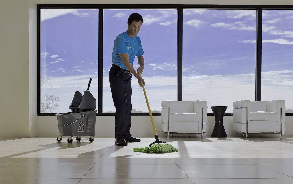working at a cleaning comapny