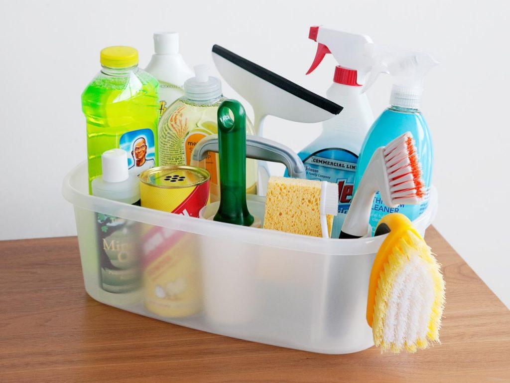 cleaning supplies caddie
