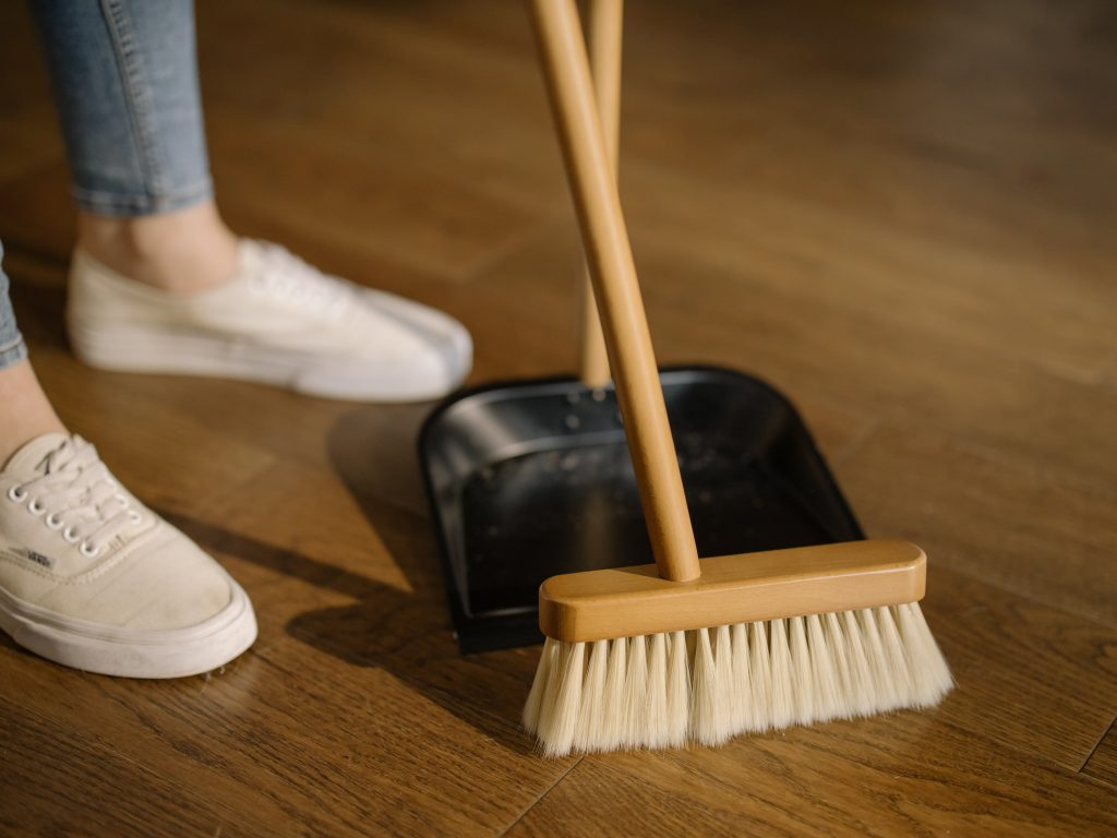 cleaning supplies broom